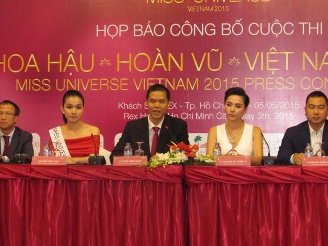 Dàn hoa hậu, á hậu khoe sắc tại Lễ công bố cuộc thi Hoa hậu Hoàn vũ 2015