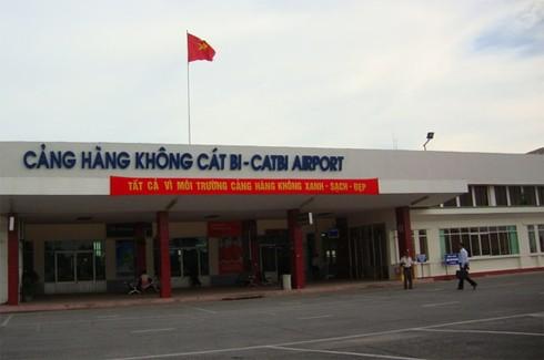 Đường băng sân bay Cát Bi gặp sự cố