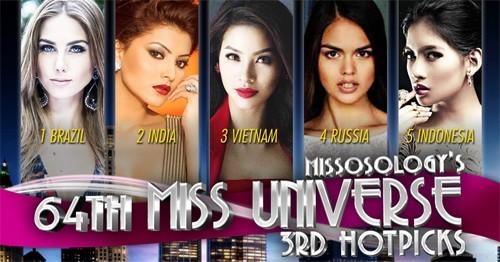 Phạm Hương được dự đoán giành ngôi á hậu 2 Miss Universe