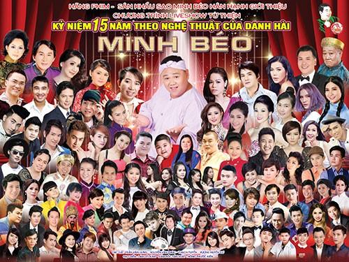 Hôm nay Minh Béo trực tiếp live show khắp thế giới