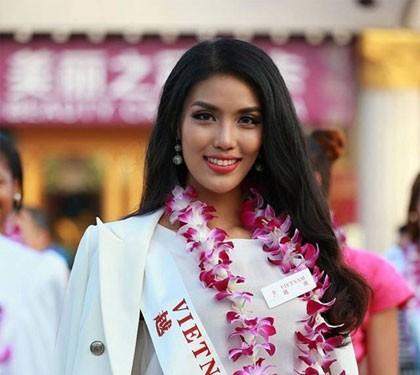 Lan Khuê ở tốp 50 thí sinh hoa hậu đẹp nhất thế giới