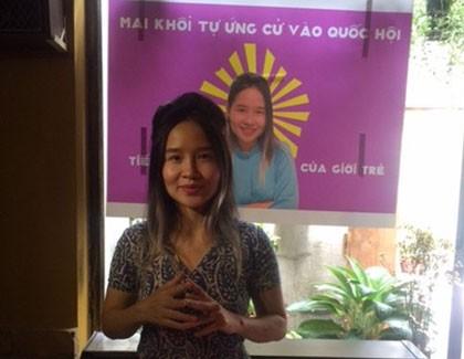 Ca sĩ Mai Khôi tự ứng cử đại biểu Quốc hội