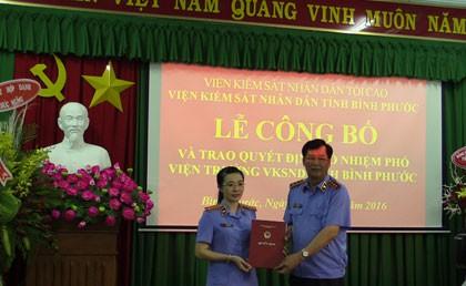 Bình Phước có nữ phó viện trưởng VKSND tỉnh 37 tuổi