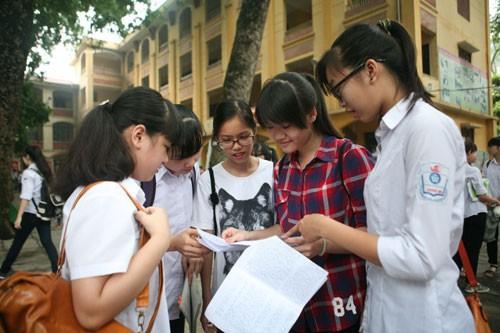 Hà Nội: Học sinh phải khảo sát văn, toán trước khi thi THPT