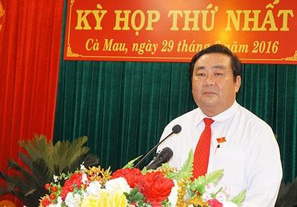 Ông Trần Văn Hiện được bầu làm Chủ tịch HĐND tỉnh Cà Mau