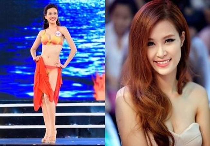 Sái Thị Hương Ly giống ca sĩ Đông Nhi tại Hoa hậu Việt Nam 2016