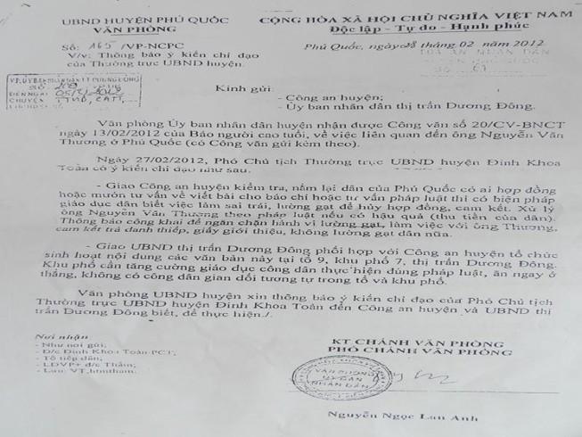 Chủ tịch UBND huyện Phú Quốc xin lỗi dân