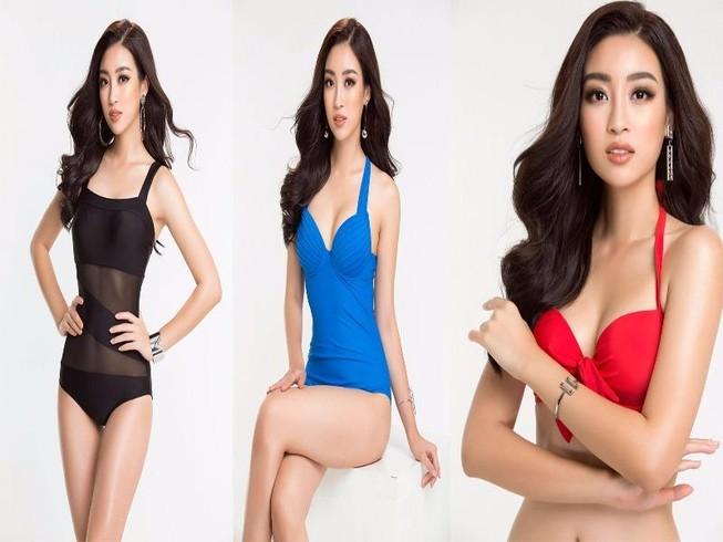 Hoa hậu Mỹ Linh diện bikini trước chung kết Miss World