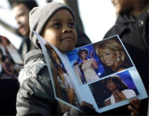Hình ảnh xúc động trong đám tang Whitney Houston