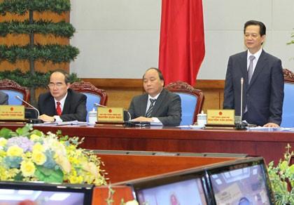 Thủ tướng Nguyễn Tấn Dũng: Xã hội ổn định là lợi thế để phát triển