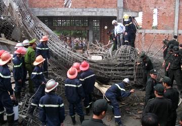 Lại sập mái vòm bê tông gần 800 m2, một công nhân tử nạn
