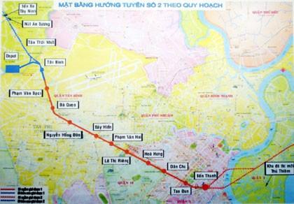 Giải tỏa 350 hộ dân để xây metro số 2