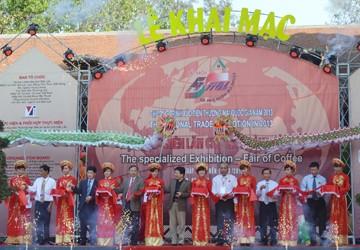 Khai mạc hội chợ triển lãm cà phê Buôn Ma Thuột