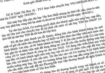 """Tiếp viên trưởng vụ khách """"tố"""" Vietnam Airlines đã tường trình gì?"""