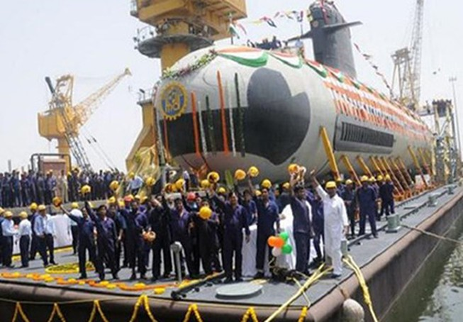 Ấn Độ hoàn thành đóng chiếc tàu ngầm Scorpene đầu tiên