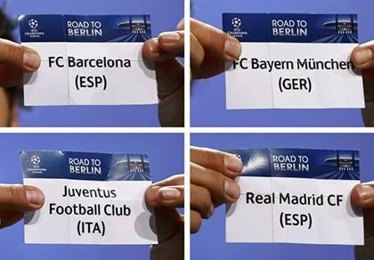 Bốc thăm bán kết Champions League: Kẻ tám lạng người nửa cân