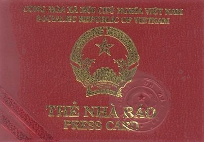 Không được cấp thẻ phóng viên thay cho thẻ nhà báo