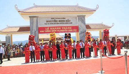 Khánh thành khu tưởng niệm Nguyễn Sinh Sắc