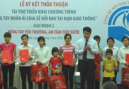 5.000 gia đình nạn nhân tai nạn giao thông sẽ được giúp đỡ