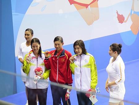 Nóng: Quý Phước, Ánh Viên liên tiếp giành vàng, phá 3 kỷ lục SEA Games