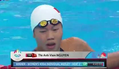 Mới thi vòng loại, Ánh Viên đã phá kỷ lục SEA Games