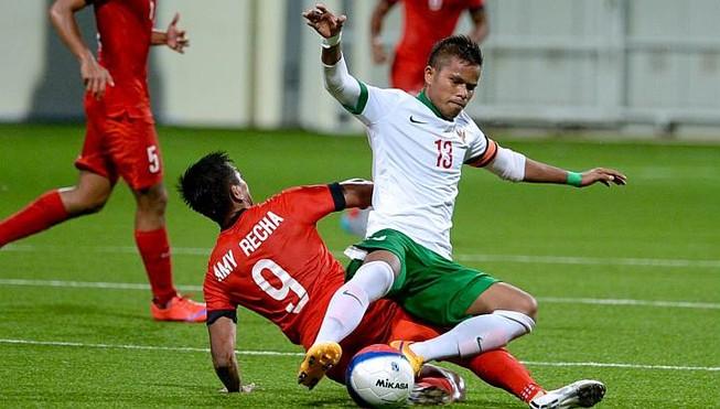 U-23 Singapore- U-23 Indonesia 0-1: Chủ nhà bị loại