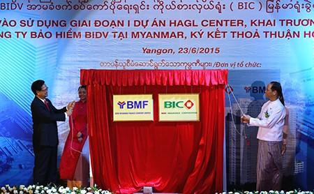 Thủ tướng dự khánh thành giai đoạn 1 dự án Myanmar Center