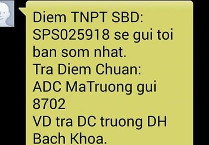 Bộ GD&ĐT khuyến cáo cảnh giác nhắn tin nhận điểm thi
