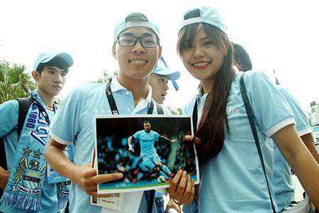 Cổ động viên Việt Nam háo hức chờ thần tượng Manchester City