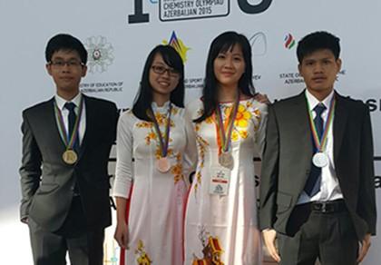 Việt Nam giành một huy chương vàng Olympic hóa học quốc tế