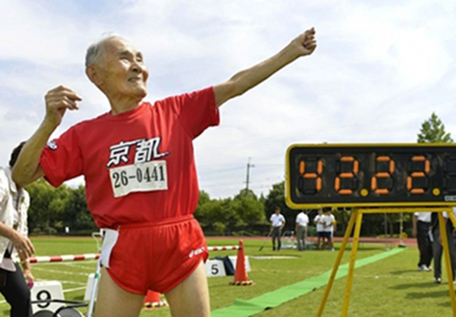 'Usain Bolt' Nhật Bản 105 tuổi vô địch cự ly 100m