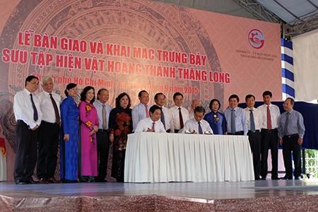 TP.HCM tiếp nhận 638 hiện vật Hoàng thành Thăng Long