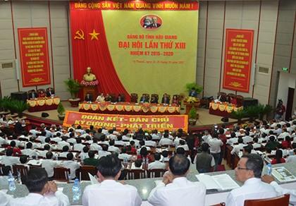 Đại hội đại biểu Đảng bộ tỉnh Hậu Giang không nhận hoa chúc mừng