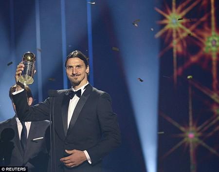 Ibrahimovic chín năm liền xuất sắc nhất Thụy Điển