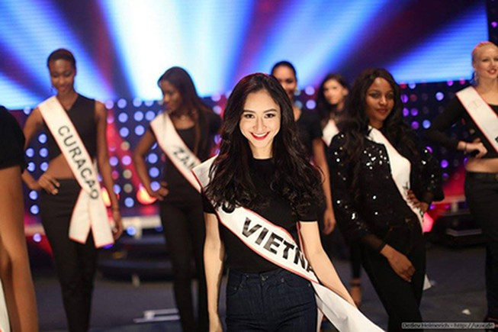 Hà Thu đoạt giải Thí sinh được yêu thích nhất ở Miss Intercontinental