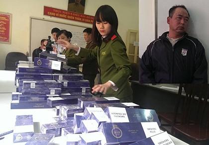 Bắt giữ hơn 4.000 bao thuốc lá 555 lậu