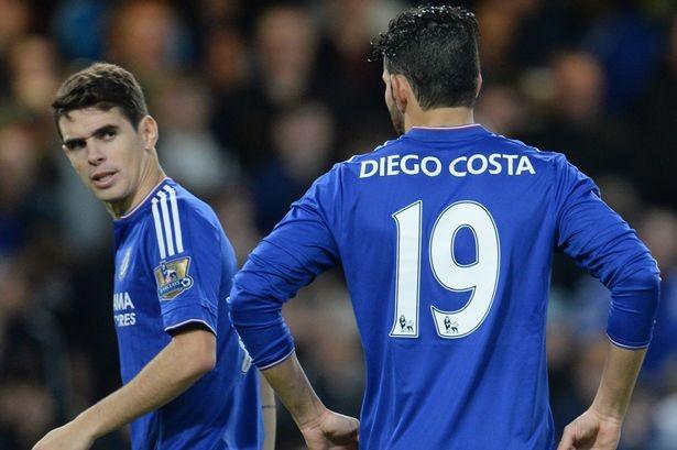 Nội bộ Chelsea lại dậy sóng: Costa và Oscar choảng nhau trên sân tập