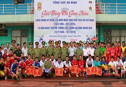 Khai mạc Giải bóng đá Tổng cục An ninh tại TP.HCM