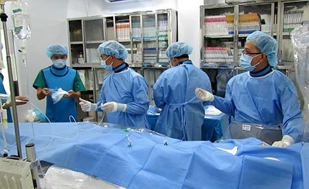 BV quận Thủ Đức lần đầu can thiệp thành công ca dị dạng mạch máu não