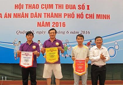 Các tòa án cụm thi đua 1 tổ chức hội thao