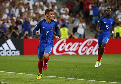 Griezmann lập cú đúp, Pháp vào chung kết Euro 2016