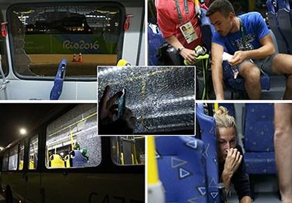 Sốc: Xe chở nhà báo tác nghiệp tại Olympic bị tấn công bằng súng