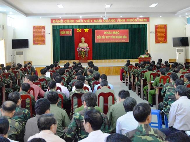 Khai mạc diễn tập khu vực phòng thủ tỉnh Khánh Hòa
