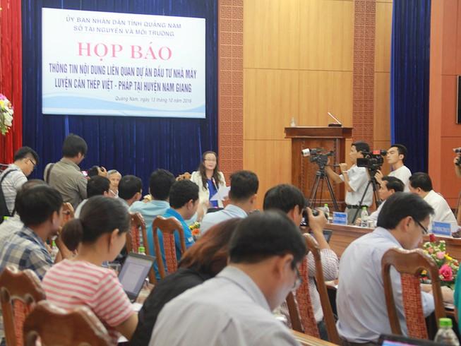Họp báo về việc di dời Nhà máy thép Việt Pháp