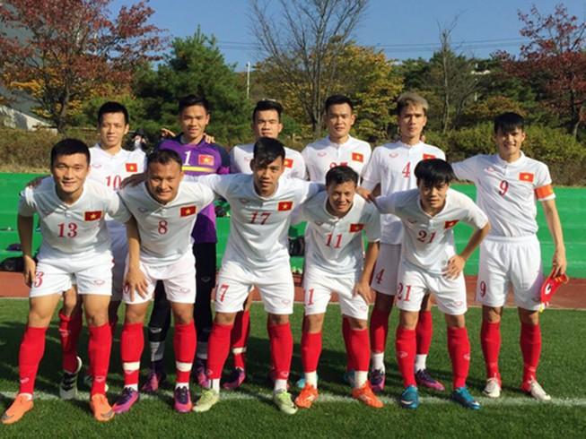 Việt Nam thắng đậm trận đá tập cuối cùng ở Hàn Quốc
