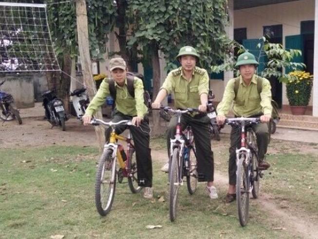Vườn quốc gia Yok Đôn tuần tra rừng bằng xe đạp