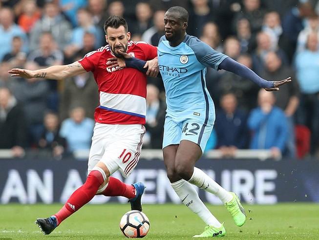 Thắng nhẹ Middlesbrough, Man City  vào bán kết FA Cup