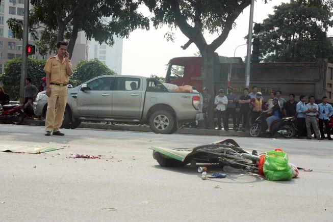 Người phụ nữ bị xe container cuốn vào gầm tử vong tại chỗ
