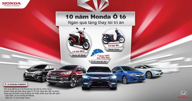 Honda đặc biệt tri ân các khách hàng ô tô