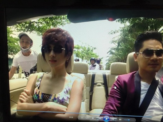 Nữ diễn viên Kim Tuyến bị cướp khi đang đóng phim